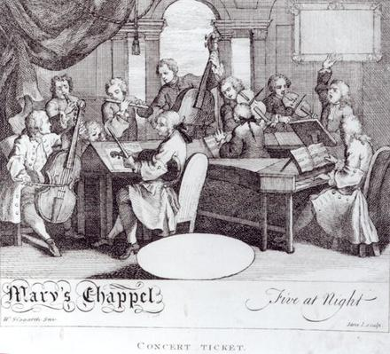 Concert Ticket for Mary's Chapel