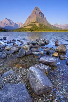 Grinnell Point and Swiftcurrent Lake | Earth's Surface