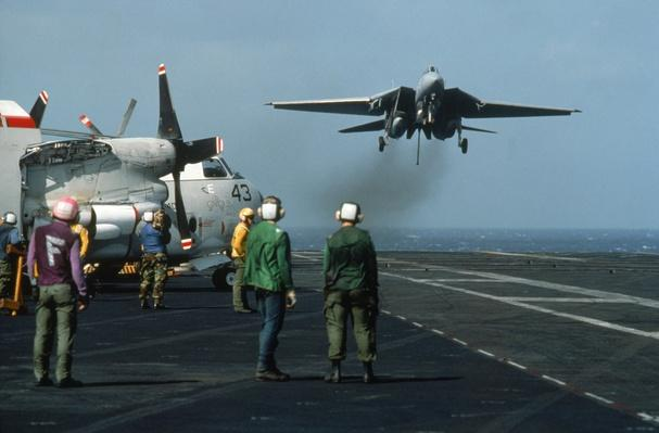 Navy plane taking off of carrier | The Evolution of Military Aviation