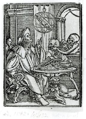 Death and the Astronomer, from 'The Dance of Death', engraved by Hans Lutzelburger, c.1538