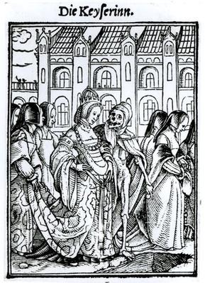 Death and the Empress, from 'The Dance of Death', engraved by Hans Lutzelburger, c.1538