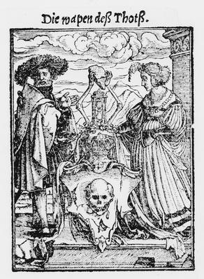 The Box of the Dead, from 'The Dance of Death', engraved by Hans Lutzelburger, c.1538