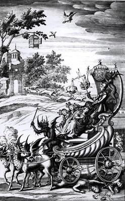 Cromwell's Chariot, frontispiece to a work on the 'Civil War'