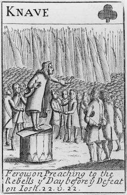 Ferguson preaching to the rebels the day before the defeat of the Monmouth Rebellion