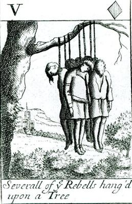 Several of the rebels hanged upon a tree after the Monmouth Rebellion