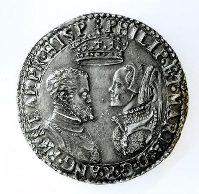 Commemorative shilling for the marriage of Philip II of Spain