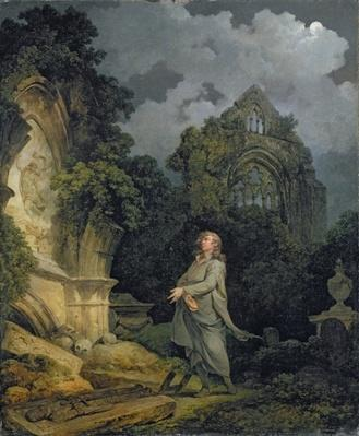 Visitor to a Moonlit Churchyard, 1790
