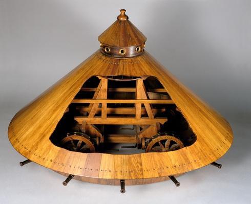 Model reconstruction of da Vinci's design for a tank (wood) | Pre-Industrial Revolution Inventors and Inventions