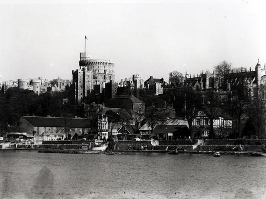 View of Windsor Castle, across the River Thames