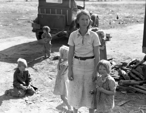 Migrant Woman with Five Children | Ken Burns: The Dust Bowl