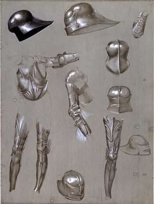 Studies of a Suit of Armour, 1875