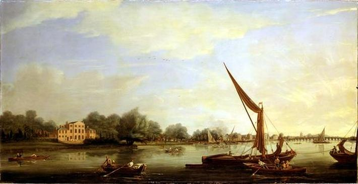 The Thames at Chelsea, 1784