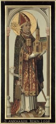 Votive Panel Depicting St. Ansgar, 1457