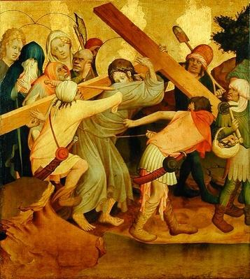 Christ Carrying the Cross, panel from the St. Thomas Altar from St. John's Church, Hamburg, begun in 1424