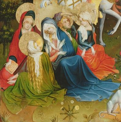 Group of Women at the Crucifixion, panel from the St. Thomas Altar from St. John's Church, Hamburg, begun in 1424