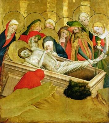 The Entombment, panel from the St. Thomas Altar from St. John's Church, Hamburg, begun in 1424