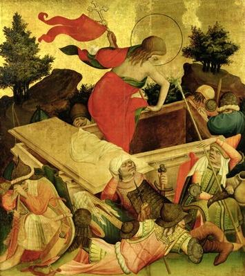 The Resurrection, panel from the St. Thomas Altar from St. John's Church, Hamburg, begun in 1424