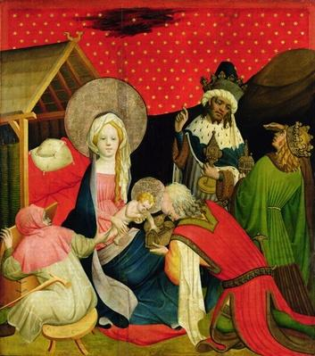The Adoration of the Magi, panel from the St. Thomas Altar from St. John's Church, Hamburg, begun 1424