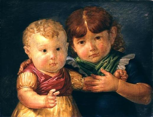 The Artist's Children, Maria Dorothea and Otto Sigismund Runge, 1809