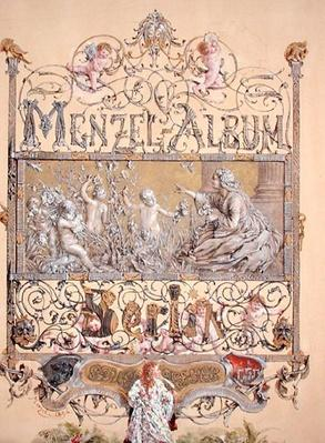 Title page from the 'Menzel Album', 1868