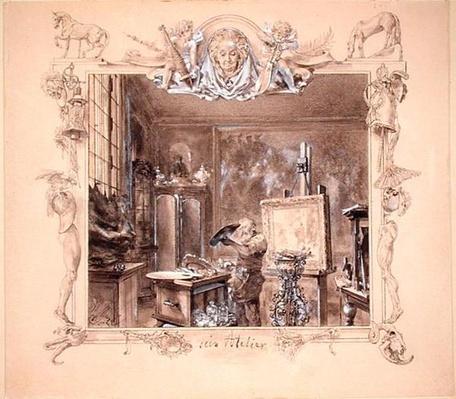 His Studio, 1890