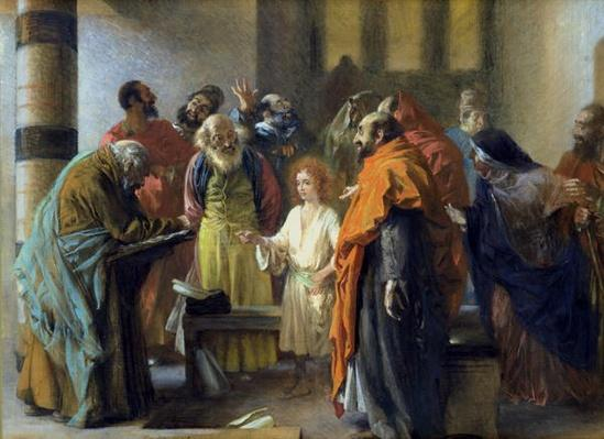 Twelve-year old Jesus in the Temple, 1851