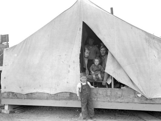 Family At A Migrant Camp | Ken Burns: The Dust Bowl