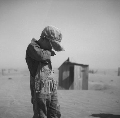 A Young Boy In A Dust Storm | Ken Burns: The Dust Bowl