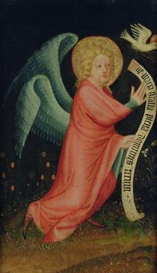 The Angel of the Annunciation, from The Harvester Altar, c.1410