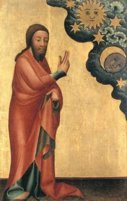 The Creation of the Sun, Moon and stars, detail from the Grabow Altarpiece, 1379-83