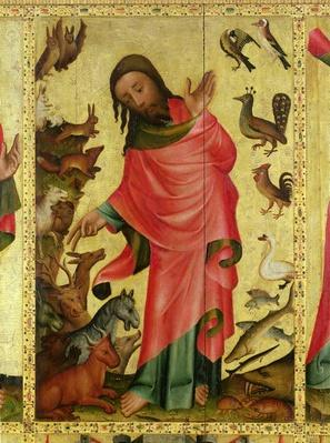 The Creation of the Animals, detail from the Grabow Altarpiece, 1379-83