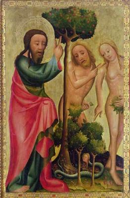 God the Father Punishes Adam and Eve, detail from the Grabow Altarpiece, 1379-83