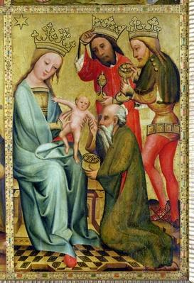 The Adoration of the Magi from the High Altar of St. Peter's in Hamburg, the Grabower Altar, 1383