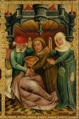 The Stolen Blessing from the High Altar of St. Peter's in Hamburg, the Grabower Altar, 1383