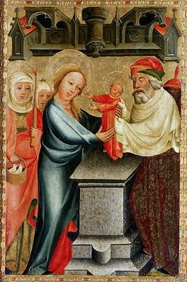 The Presentation of Christ in the Temple, detail from the Grabow Altarpiece, 1379-83