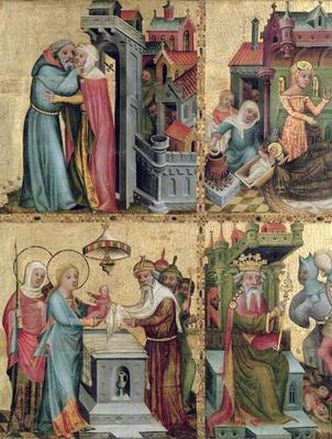 Meeting at the Golden Gate and the Presentation in the Temple, from the Buxtehude Altar, 1400-10