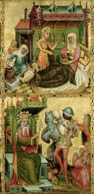 Nativity of the Virgin and the Massacre of the Innocents, from the Buxtehude Altar, 1400-10