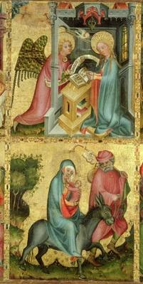 The Annunciation and the Flight into Egypt, from the Buxtehude Altar, 1400-10