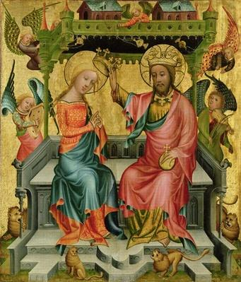 The Crowning of the Virgin, from the right wing of the Buxtehude Altar, 1400-10