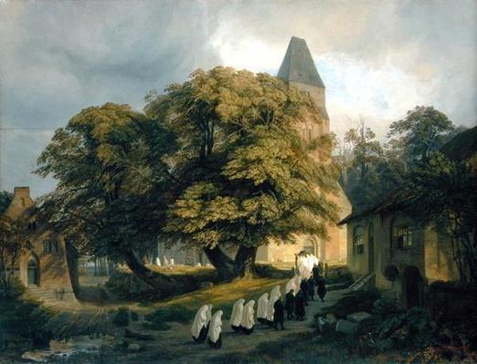Elstorf Churchyard, near Hamburg, 1837