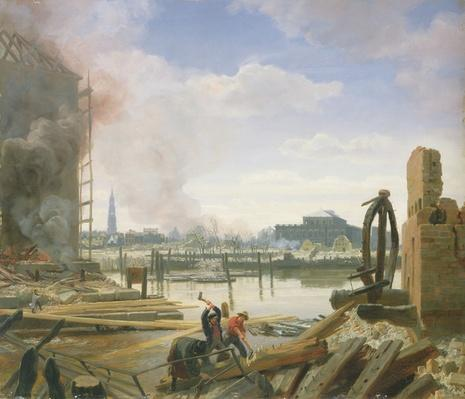 Hamburg After the Fire, 1842
