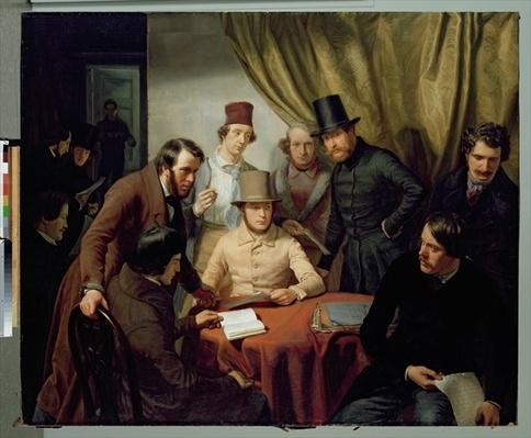 The Members of the Hamburg Artist's Club, 1840