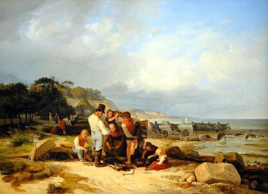 Fishermen in Probstei, 1835