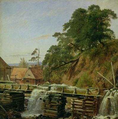 A Watermill in Christiania, c.1834
