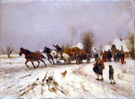 A Village in Winter, 1876