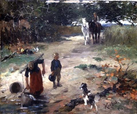 At the Village Pond, c.1888