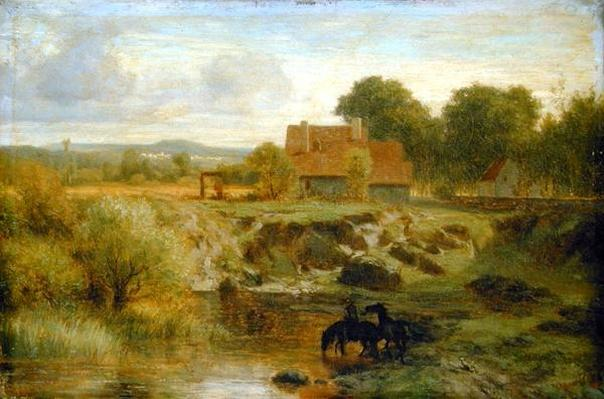 Horses Crossing a River in the Ile de France, 1855