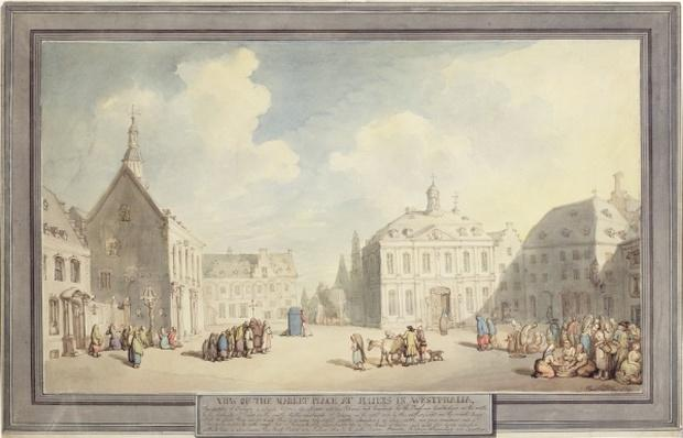 The Market Place at Juliers in Westphalia, 1791