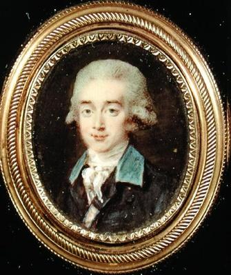 Portrait miniature of Count Hans Axel von Fersen