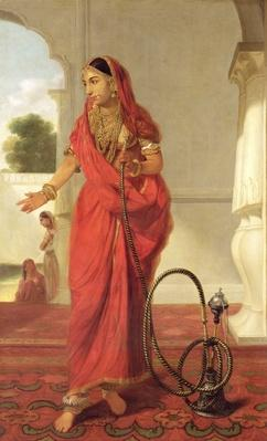 An Indian Dancing Girl with a Hookah, 1772